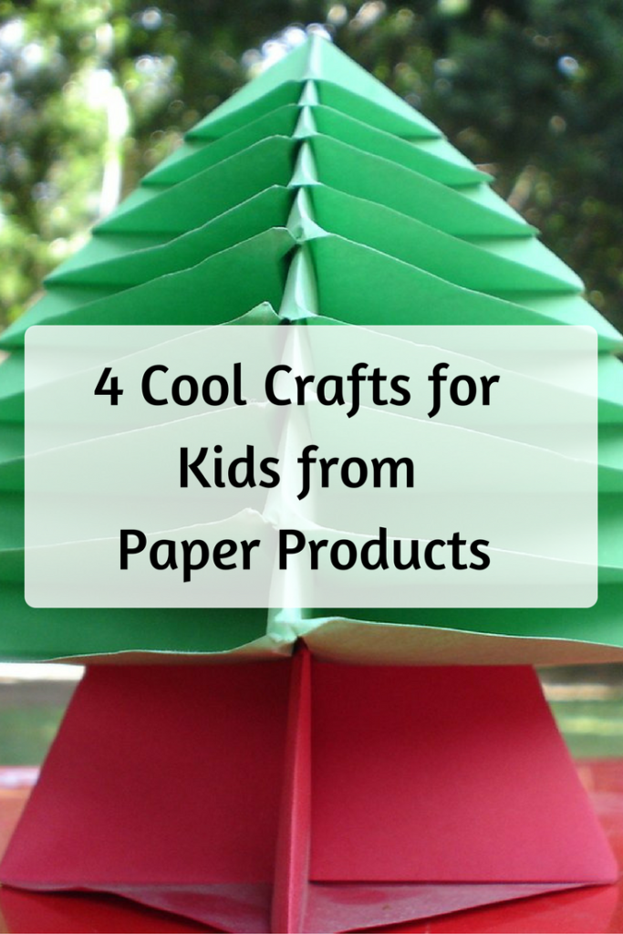 4 Cool Crafts for Kids Made from Paper Products