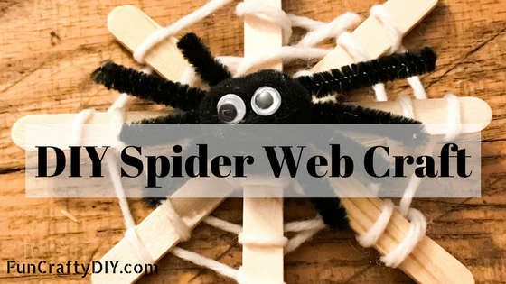 DIY Spider Web Craft