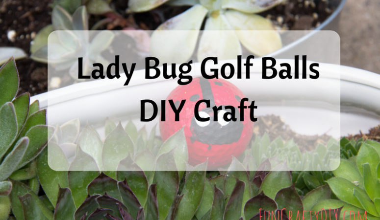 Lady Bug Golf Balls DIY Craft – Super Cute Garden Craft