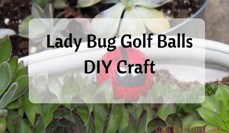 Lady Bug Golf Balls DIY Craft – Super Cute Garden Craft