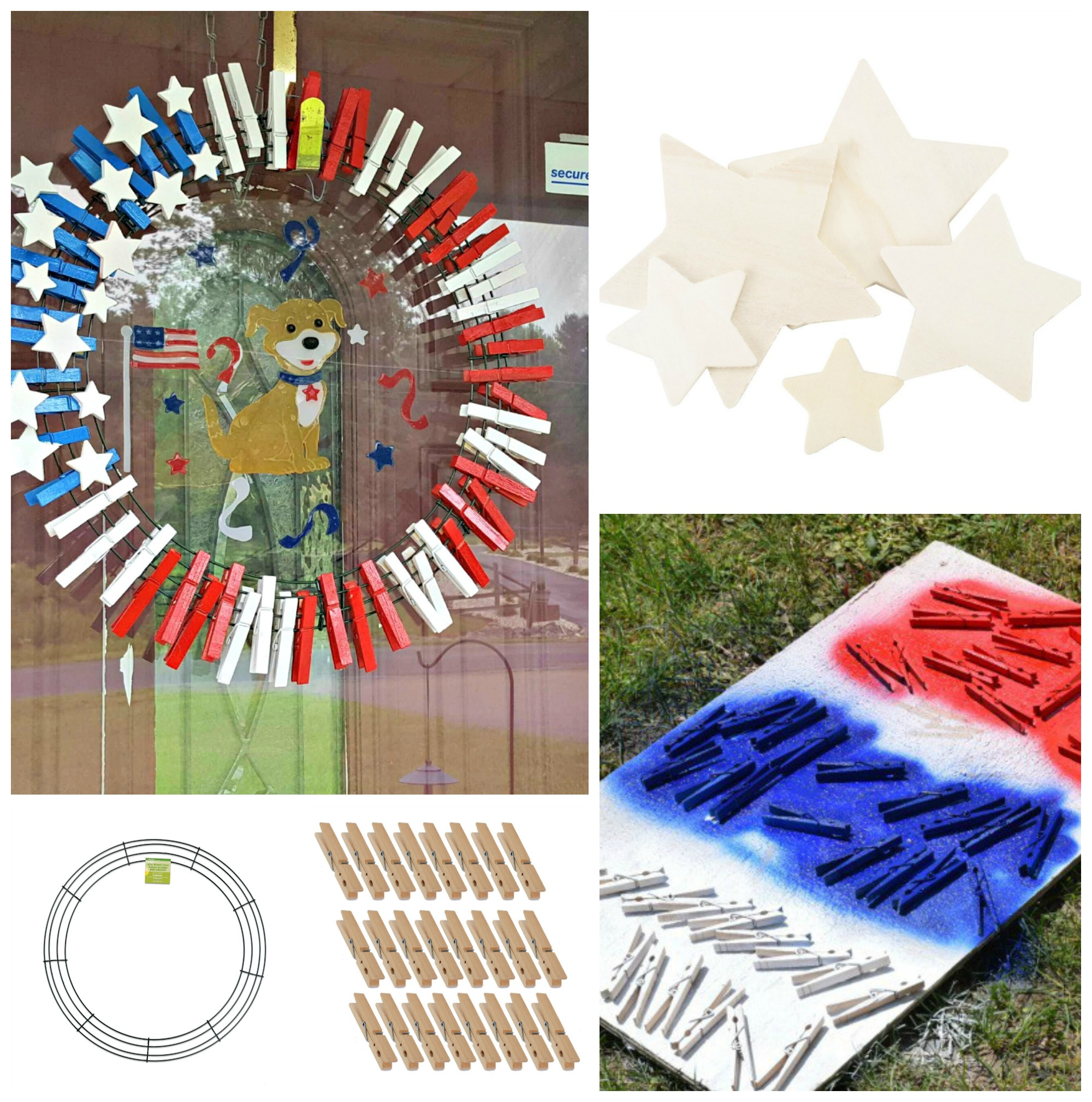 4th of July Wreath – So Easy To Make!