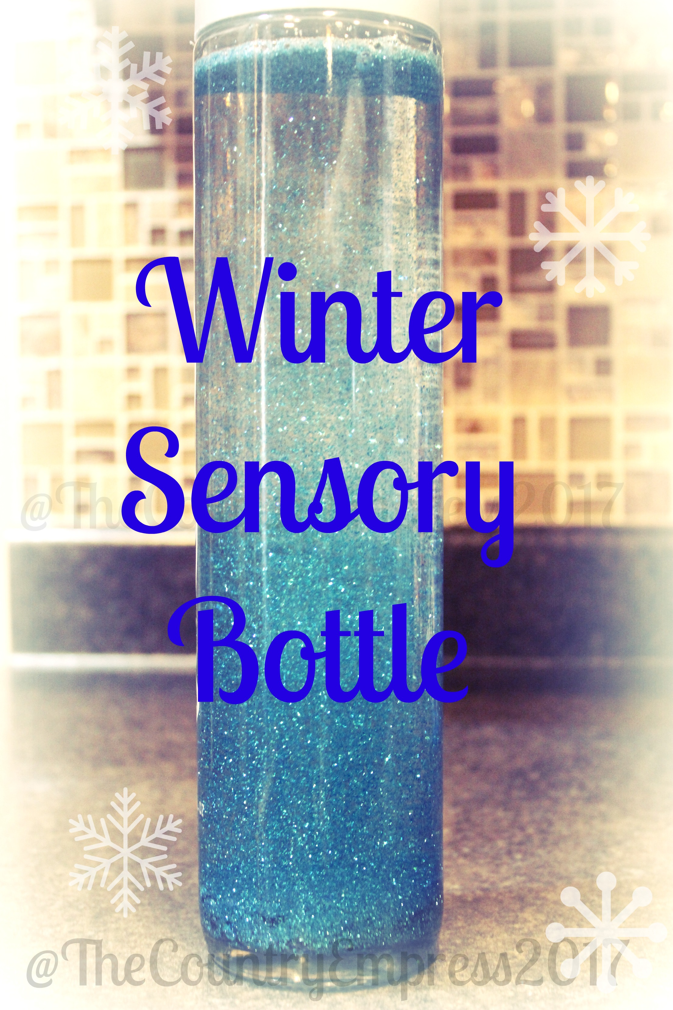 Winter Sensory Bottle – How To Make Your Own!
