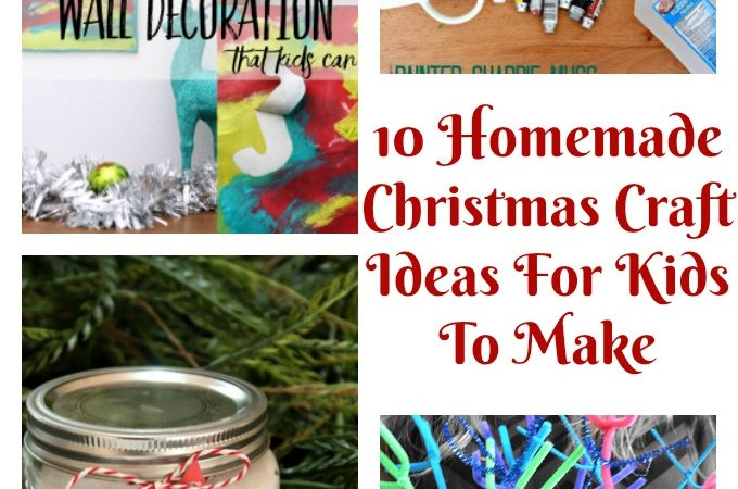 10 Homemade Christmas Craft Ideas For Kids To Make