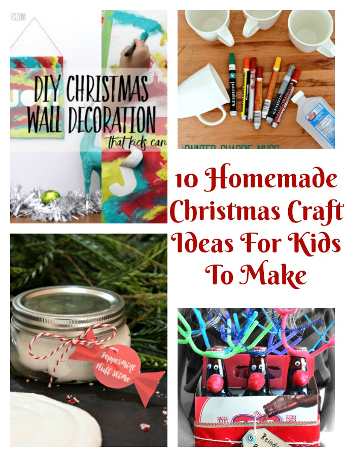 10 Homemade Christmas Craft Ideas For Kids To Make